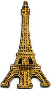 Amazon.com: Eiffel Tower Paris France Retro Appliques Hat Cap Polo Backpack Clothing Jacket Shirt DIY Embroidered Iron On / Sew On Patch #3: Arts, Crafts & Sewing