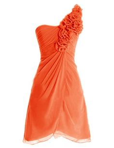 Diyouth One Shoulder Flowers Short Chiffon Bridesmaid Dress Orange Size 2 Diyouth http://www.amazon.com/dp/B00LTY98HM/ref=cm_sw_r_pi_dp_mCk0tb0GS0DC2EWC