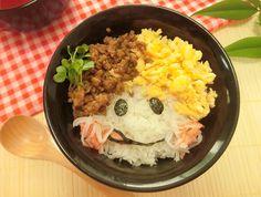 そぼろでかわいくアレンジデコ三色丼動画レシピとアレンジアイデアまとめ