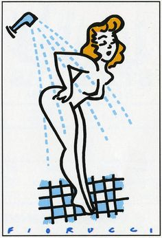Fiorucci Shower Panini Sticker #Fiorucci #Archive #Graphic #Panini Girls Magazine, Magazine Art, Doodle Bear, 90s Culture, Latest Jeans, Swinging London, Black Light Posters, Textiles, T Shirt And Jeans