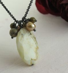 SALE  Earth Tones  sterling silver and gemstone by KathrynRiechert, $30.00