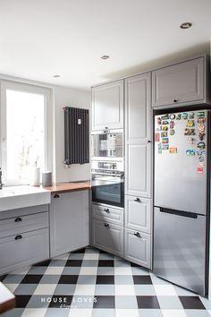 Projekt Kuchni Z Szarymi Frontami Ikea Bodbyn Kitchen Cabinets Kitchen Home Decor