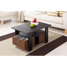 Furniture of America Fresno Collection Coffee Table with Removable Fabric Storage Box - Overstock™ Shopping - Great Deals on Furniture of America Coffee, Sofa & End Tables