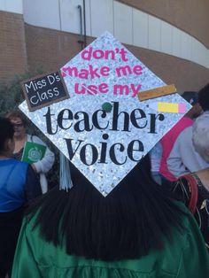 teacher voice grad cap