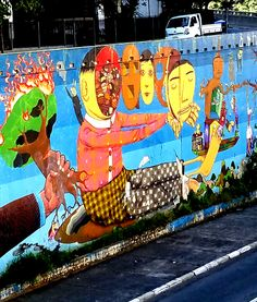 São Paulo, Brasil - Street Art & Graffiti -  This is from the Centro region of São Paulo, Brasil. Wherever I am in the city...you find incredible pieces of work. Original photography from R. Stowe.