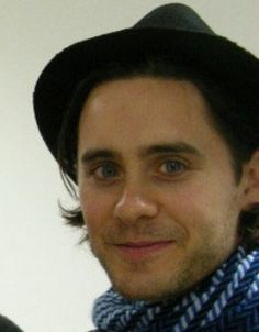 Jared Leto with one of his quirky smiles.