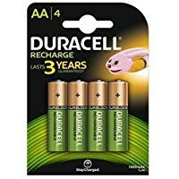 Duracell Plus 5000174 Aa Rechargeable Batteries 1300 Mah Pack Of 4 Green Duracell Rechargeable Batteries Cordless Phone