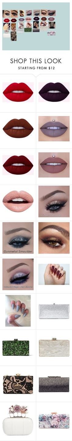 """""""Sem título #25"""" by milena-beatriz-de-oliveira-ramalho on Polyvore featuring beleza, Lime Crime, Jeffree Star, Nevermind, Jimmy Choo, Edie Parker, Love Moschino, Alexander McQueen e Ted Baker"""