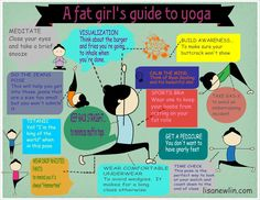 The fat girl's guide to yoga. As someone who recently started back in an (ahem) different body shape as my previous yoga practice, I think this is funny!