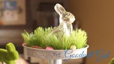 Vintage glass rabbit. #Goodwill #easter