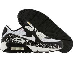 Nike Air Max 90 CL Pemium - Notebook Edition (white / white / black / university blue) 327623-111 - $72.99