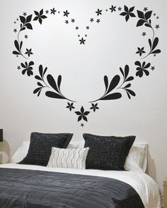 20coole ideen wandaufkleber design schlafzimmer herz bedroom wall stickersbedroom muralsbedroom ideasbedroom - Wall Sticker Design Ideas