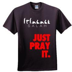 Salah - Just Pray It T-Shirt Design Kaos, Tee Design, Islamic Paintings, Just Pray, Islamic Clothing, Boys T Shirts, Circuit, Muslim, Shirt Designs