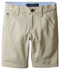 Tommy Hilfiger Chester Twill Shorts with Oxford (Toddler/Little Kids)