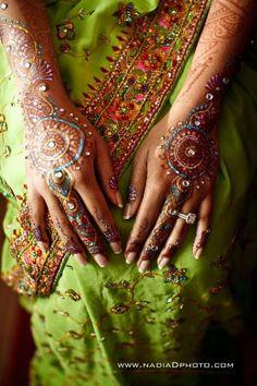 mehndi with glitter