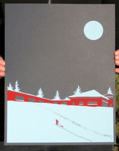 First Snow Screen Print by Perfect Laughter