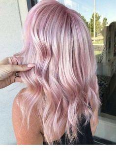 Rose Pink Hair, Pink Blonde Hair, Pastel Pink Hair, Baby Pink Hair, Pastel Hair Colour, Blonde Pink Balayage, Blonde Hair With Color, Pastel Lavender Hair, Blue And Pink Hair