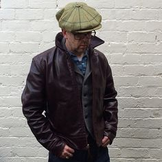 @paulyq1966 looking fantastic in his Aero! #aeroleather #aeroleatherclothing #heavyleather #heritage #leather #leatherjacket #horween #horsehide #madeinscotland #vintage #menswear #vintagestyle #mensstyle #style #workwear #ruggedstyle #1920
