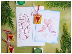 Deco Heart Martisor, 1 Martie, Love Art Card with Envelope, Illustration Card, Spring Symbol, Romanian Tradition, Spring Charm Text Design, One Design, Beginning Of Spring, You Are Awesome, Love Art, Envelope, Bloom, Gift Wrapping, Symbols