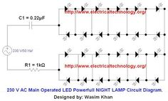 Automatic LED Emergency Light Circuit Diagram using LDR | Emergency ...