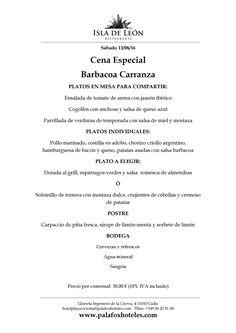 Este sábado 13 de agosto a las 21,30h, disfruta de una Barbacoa Carranza en la Pérgola del Hotel Playa Victoria. Cena a la parrilla y vistas al mar, ¡no te lo puedes perder!