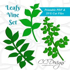 Leafy Vine Templates and Tutorial - Freebie Included
