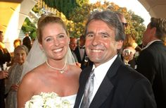 A gorgeous shot of Davy Jones (The Monkees) with Ami Dolenz on her wedding day in 2002.