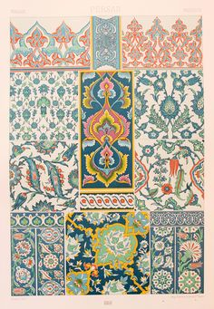 Persian Asian Decorative Ornament (Earthenware Pottery Enamels, Glazes in Green & Blue, etc) - Chromolithograph https://img1.etsystatic.com/026/1/9377676/il_fullxfull.610705243_kgdr.jpg