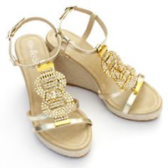 Capri Wedges from Fibi and Clo, contact Fashionista Nativa for price.