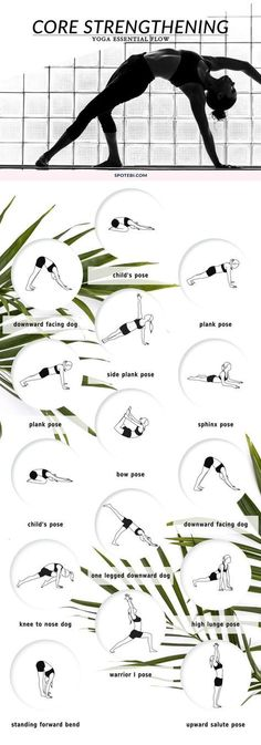 Build core strength, improve range of motion and develop long and lean muscles that will power up all your yoga flows. Focus on your breath and allow your body and mind to relax as you move through these core strengthening poses. http://www.spotebi.com/yoga-sequences/core-strengthening-flow/