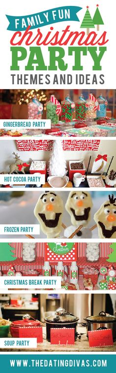 Christmas Party themes for the whole family to enjoy! www.TheDatingDivas.com