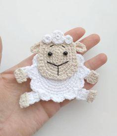 PATTERN Sheep Applique Crochet Pattern PDF Crochet Lamb Farm