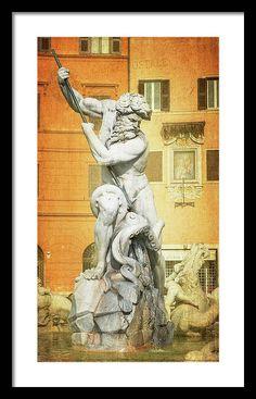 Framing Photography, Art Sites, Framed Prints, Art Prints, Rome Italy, Beautiful Artwork, Great Artists, Fine Art America, Fountain