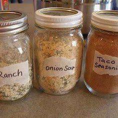 Seasoning Mixes (Dry Onion Soup, Ranch Dressing, Taco Seasoning)