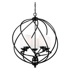 The Sea Gull Lighting Goliad hall - foyer pendant in blacksmith is an ENERGY STAR qualified lighting fixture that uses fluorescent bulbs to save you both time and money. The transitional Goliad lighting collection by Sea Gull Lighting has a s Orb Pendant Light, Foyer Pendant Lighting, Globe Chandelier, 5 Light Chandelier, Chandeliers, Kitchen Lighting, Entry Lighting, Globe Pendant, Outdoor Lighting
