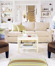 Lend balance and organization to a room by placing the furniture in a symmetrical arrangement. | Surprising, low-cost ways to update your home décor.