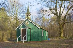 Romany Church tin tabernacles, iron church Tin House, Shepherds Hut, Old Churches, Little Houses, Shed, Outdoor Structures, Treehouses, Cathedrals, House Styles