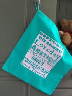 Personalised Present Bag Double Side Gift Tag by FarrahandLouise