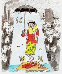 Reading makes you enjoy / La lectura te hace disfrutar (ilustración de Jacques Tardi)