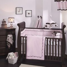 baby nursery ideas love the brown and pink