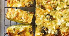 This broccoli, bacon and zucchini slice turns bacon and eggs into a lunch box favourite.