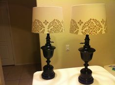 Old brass lamps redo