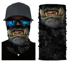 Animal Cycling Face Mask Fabric UV Protection Outdoor Cycling Riding Hiking Motorcycling Mask DustProof Breathable Seamless Tube Headwear Ski Snowboard Scarf Neck Warmer Balaclava BandanaMonster -- Click image for more details. (This is an affiliate link) Motorcycle Mask, Airsoft Mask, Half Face Mask, Face Masks, Triangle Scarf, Bandana Scarf, Skull Print, Neck Scarves, Neck Warmer