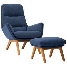 Sessel mit Hocker Blau Jetzt bestellen unter: http://www.woonio.de/produkt/sessel-mit-hocker-blau-3/