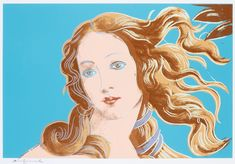 Signed Andy Warhol Screenprint on Arches Aquarelle (Cold Pressed) paper, Venus from Details of Renaissance Paintings, 1984, from Masterworks Fine Art Gallery.