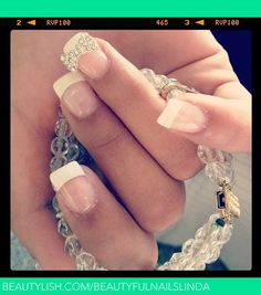 acrylic french tip wih bows | French with a BOW | Beautyful nails L.'s (beautyfulnailslinda) Photo ...