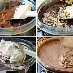 Super easy Hershey pie! 6 Hershey bars with almonds (melt in microwave) mix with 1 regular tub of whipped topping & pour in a Graham cracker crust! Chill and serve.....AWESOME!