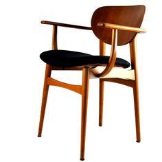 "4 Dining Chairs ""3 +1"", Danish Design, Vintage 1950er"
