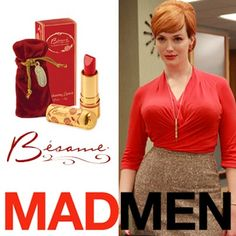 want the lipstick Christina Henricks wears on Mad Men?! It's Besame Cherry Red! love the vintage packaging.