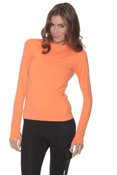 Another example of a long sleeve, high neck top! Light weight and UV protected. BloqUV 24/7 Women's Top is a leader in sun protection clothing. Block UV rays, Sun Screen Shirt UPF rated.